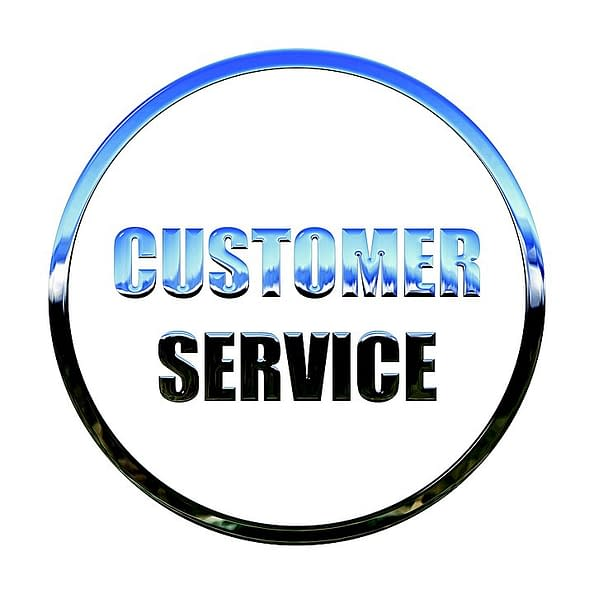 Customer service text image